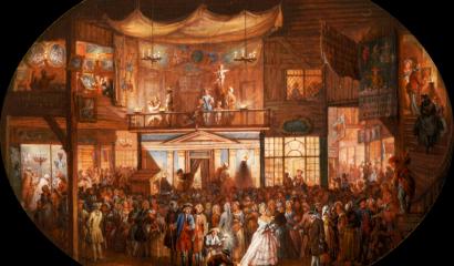 Peinture originale de Blarenberghe Foire Saint Germain Creatives Commons